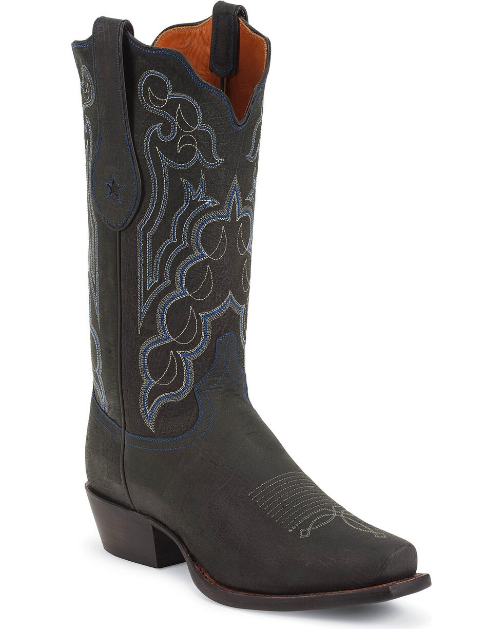 Tony Lama Men's Signature Kangaroo Snip Toe Western Boots, Black, hi-res