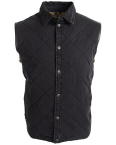 STS Ranchwear Men's Black Yellowstone Vest - Big , Black, hi-res
