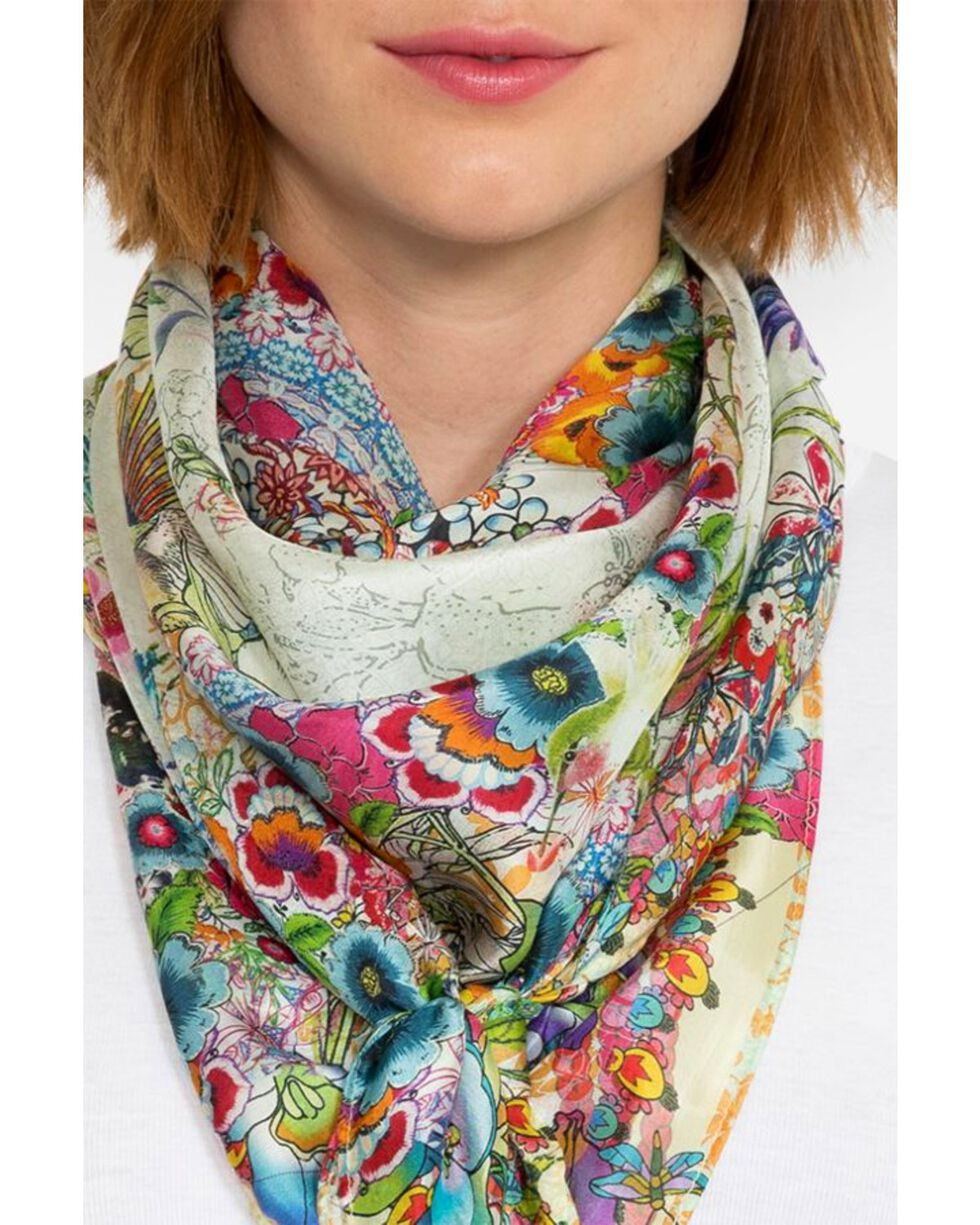 Johnny Was Women's Leilani Silk Scarf, Multi, hi-res