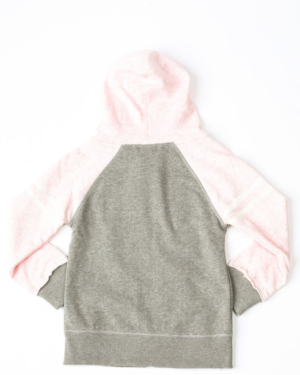 Cruel Girl Girls' Raglan Zip Hoodie , Pink, hi-res