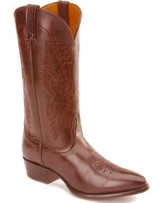 Nocona Men's Imperial Calf Skin Western Boots, Black Cherry, hi-res