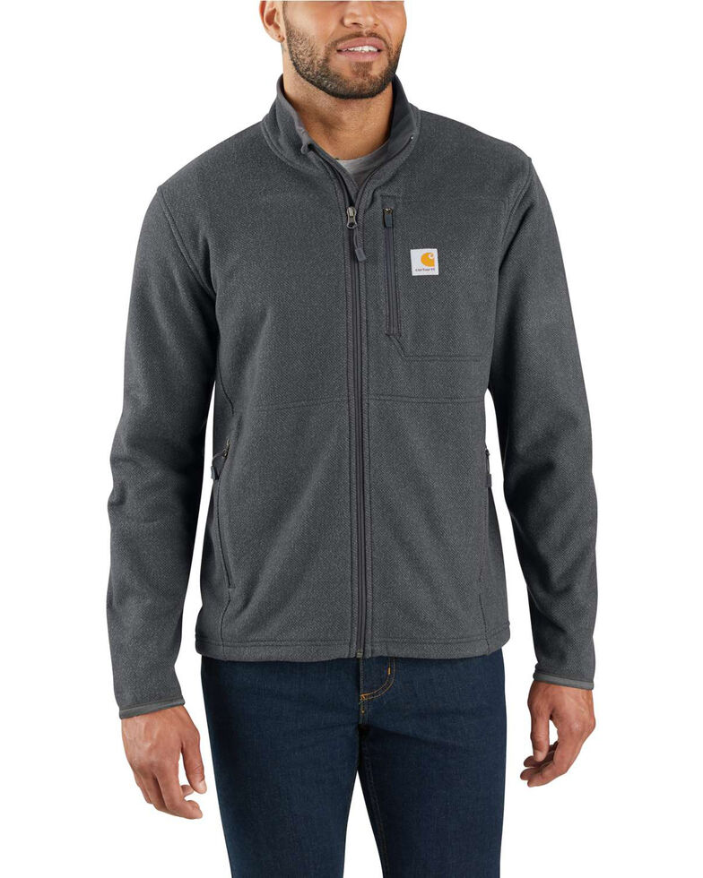 Carhartt Men's Dalton Full-Zip Fleece Work Jacket - Big, Heather Grey, hi-res