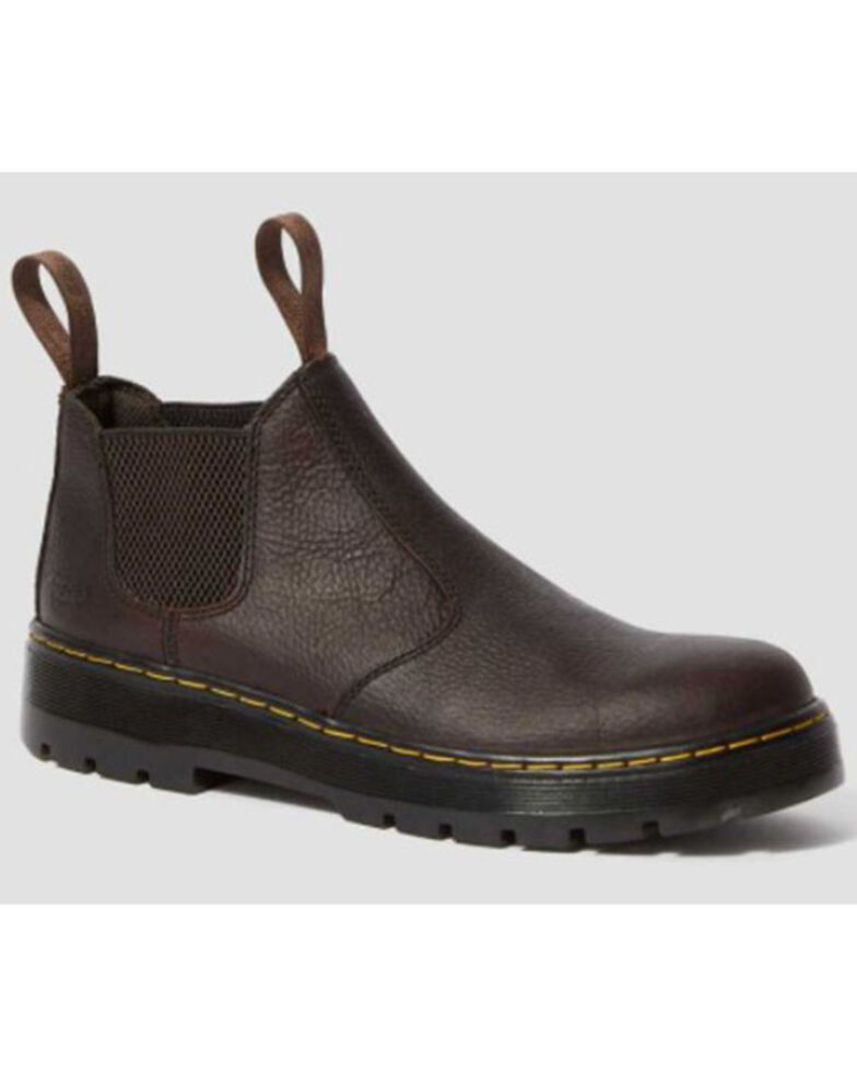 Dr. Martens Women's Hardie Bear Track Chelsea Boots - Round Toe, Dark Brown, hi-res