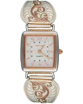 Montana Silversmiths Women's Rose Gold Filigree Watch, Silver, hi-res