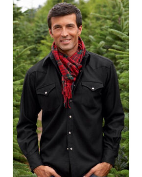 Pendleton Men's Western Wear Wool Canyon Shirt , Black, hi-res