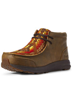 Ariat Men's Spitfire Aztec Bomber Boots - Moc Toe, Brown, hi-res