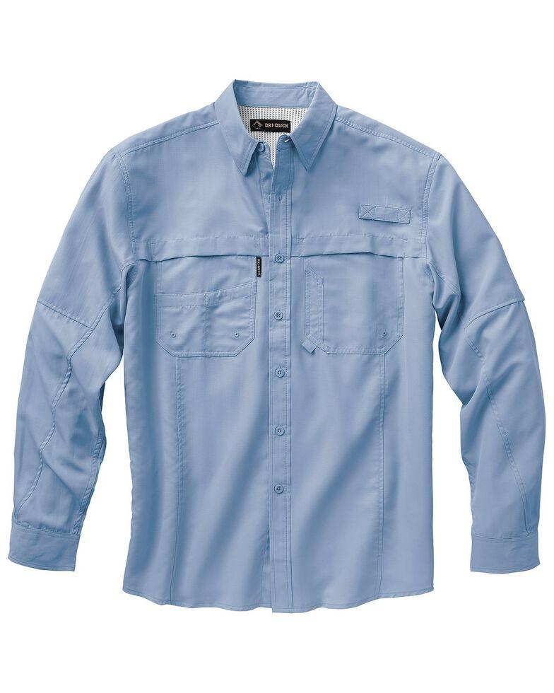 Dri Duck Men's Catch Long Sleeve Woven Work Shirt - Big & Tall , Sky, hi-res