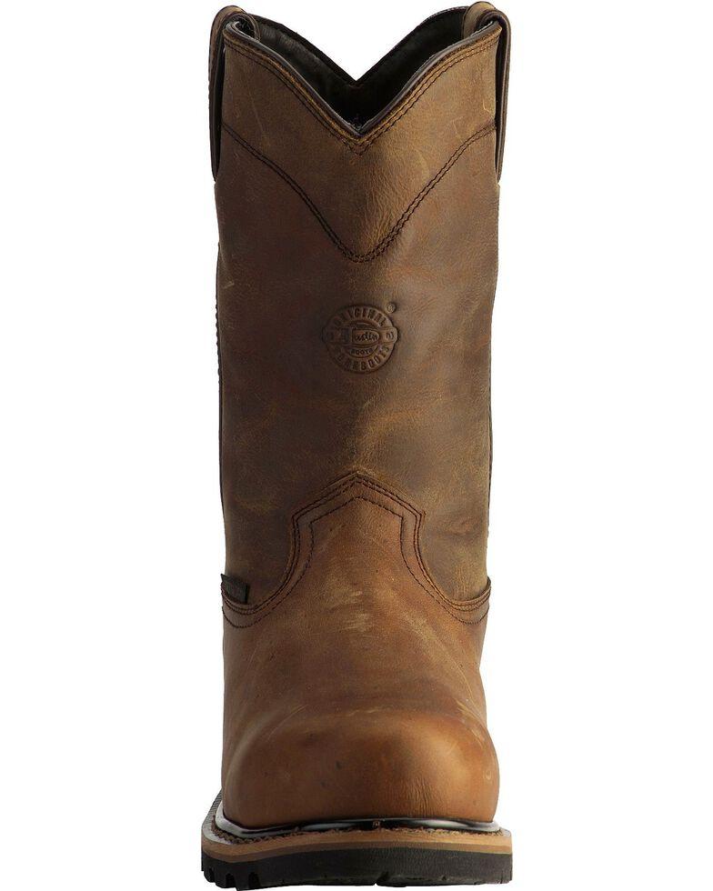 Justin Men's Wyoming Waterproof Internal Met Guard Pull-On Work Boots, Brown, hi-res