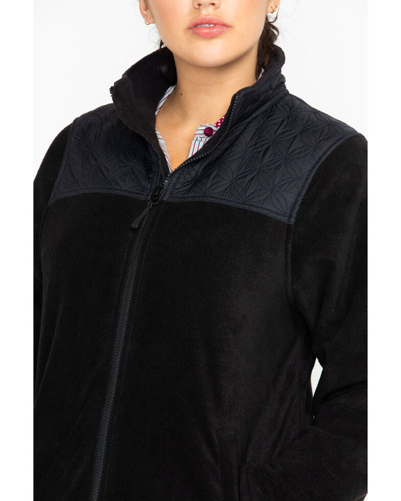 Berne Women's Black Fleece Trek Jacket, Black, hi-res