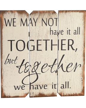 "BB Ranch ""Together We Have It All"" Wall Plaque, No Color, hi-res"