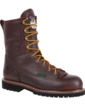 Georgia Men's Logger Steel Toe, Chocolate, hi-res