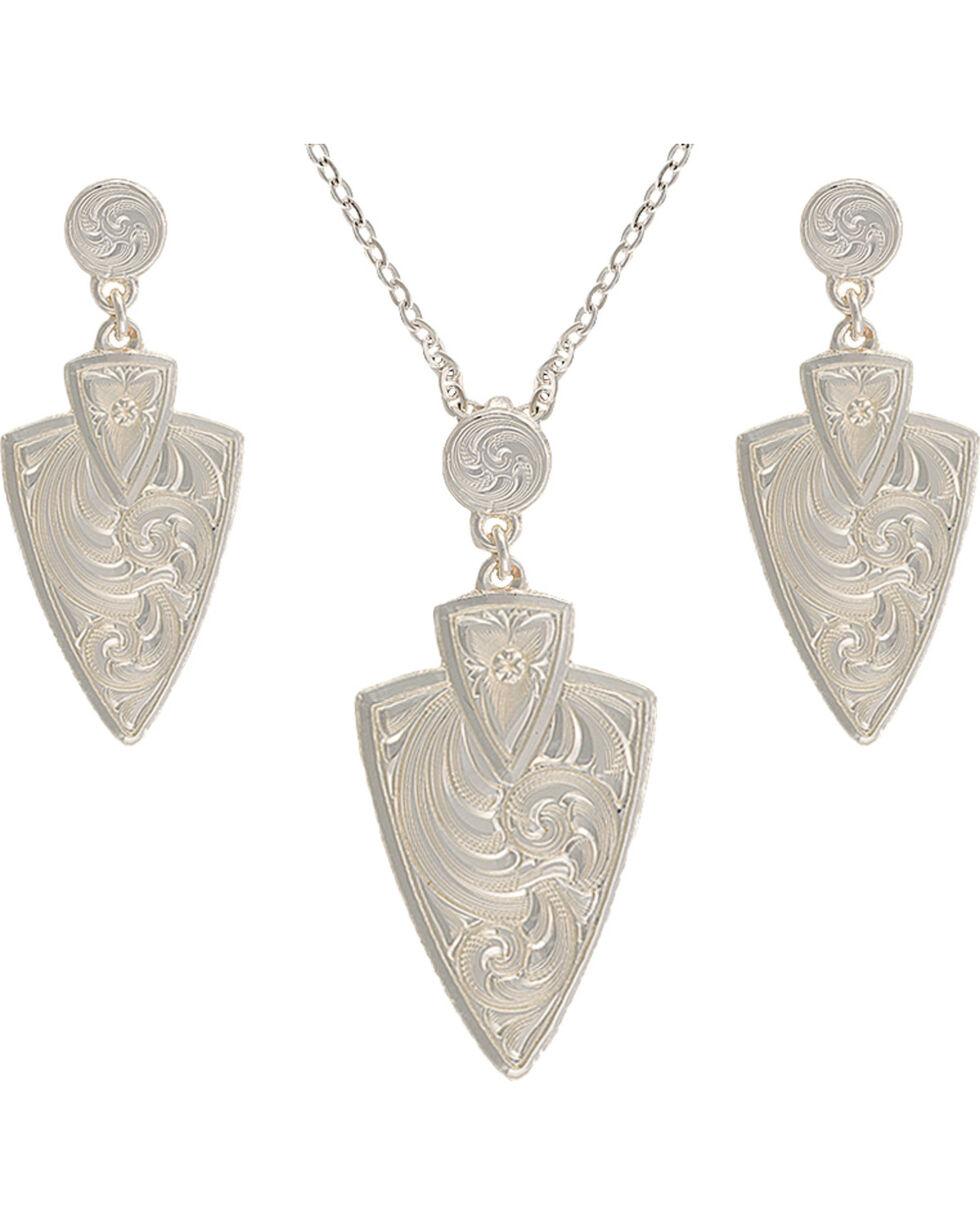 Montana Silversmiths Keen Pursuit Arrowhead Jewelry Set, Silver, hi-res