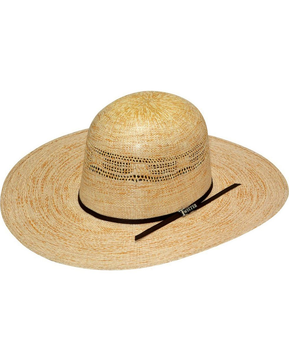 Twister Bangora Open Crown Straw Cowboy Hat, Toast, hi-res