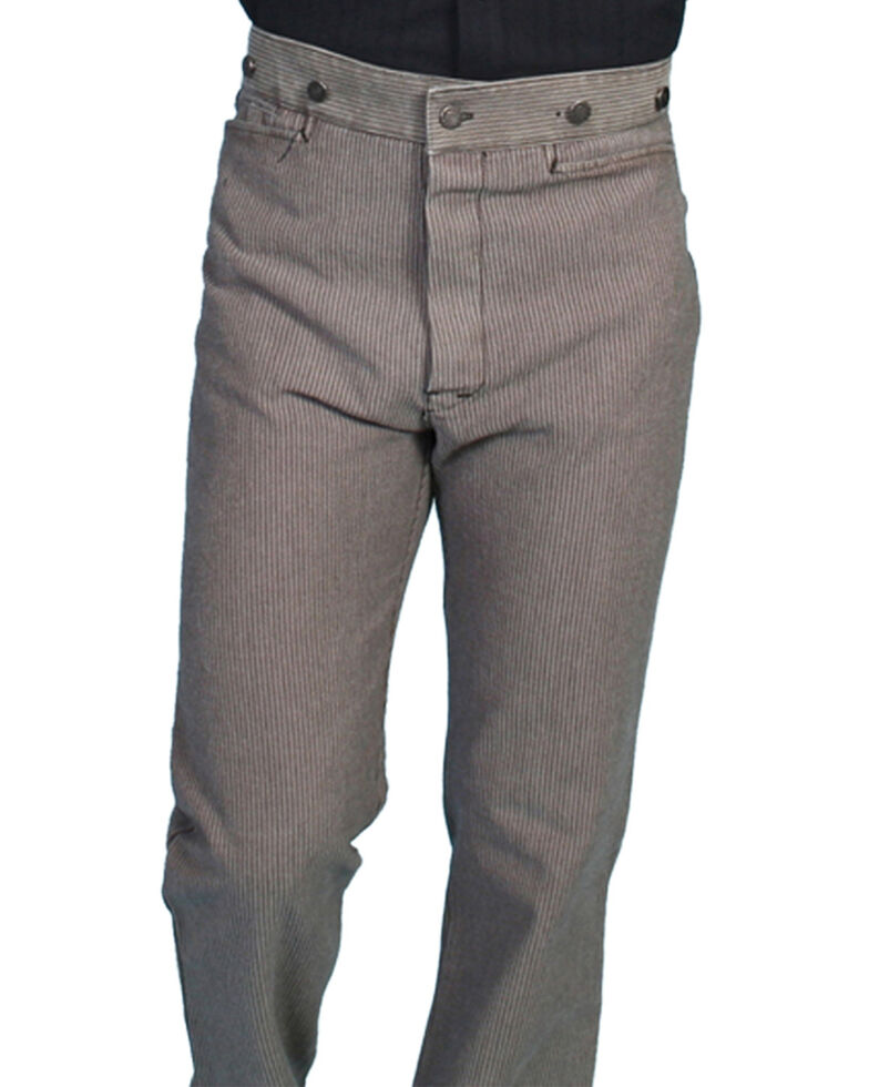 Wahmaker by Scully Raised Dobby Stripe Pants, Taupe, hi-res