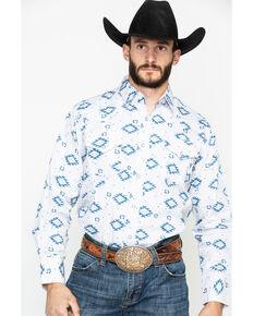 Ely Cattleman Men's Aztec Print Long Sleeve Western Shirt , Burgundy, hi-res