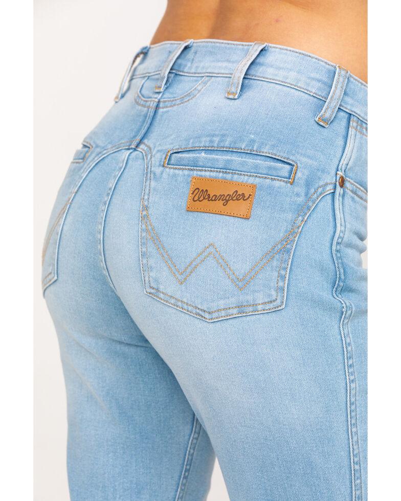 Wrangler Modern Women's Western Yoke Robin Flare Jeans, Blue, hi-res