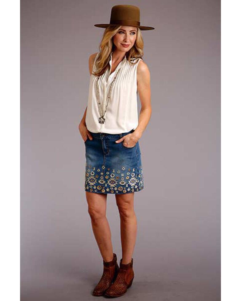 Stetson Women's White Sleeveless Blouse , White, hi-res