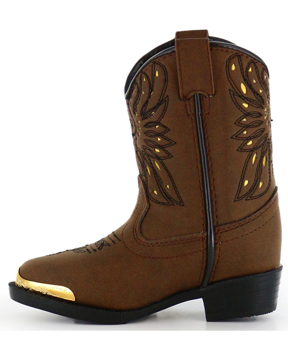 Cody James® Infant/Toddler Phoenix Western Boots, Brown, hi-res