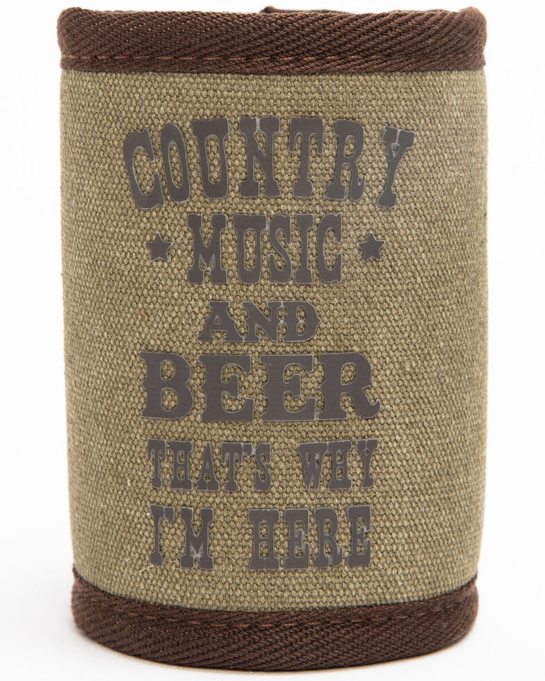 Boot Barn Ranch Country Music And Beer Coozie , Green, hi-res