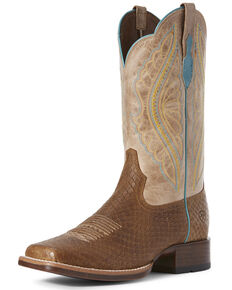 Ariat Women's Primetime Hollin Western Boots - Wide Square Toe, Tan, hi-res