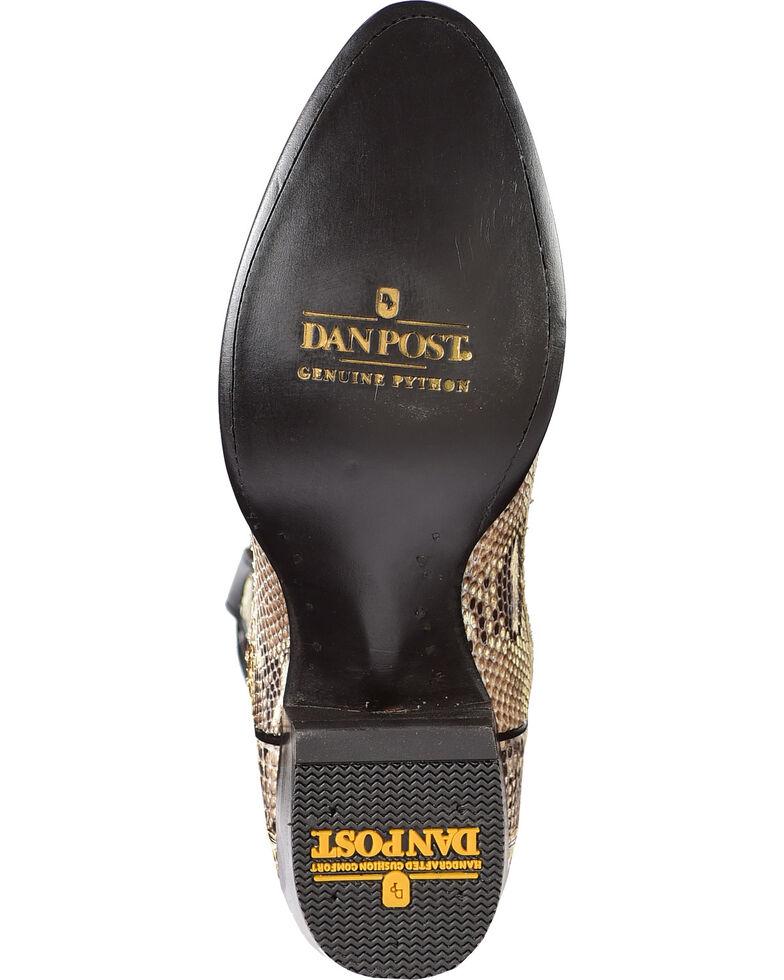 c9a2e571c7d Dan Post Men's Natural Belly Cut Python Cowboy Boots - Medium Toe