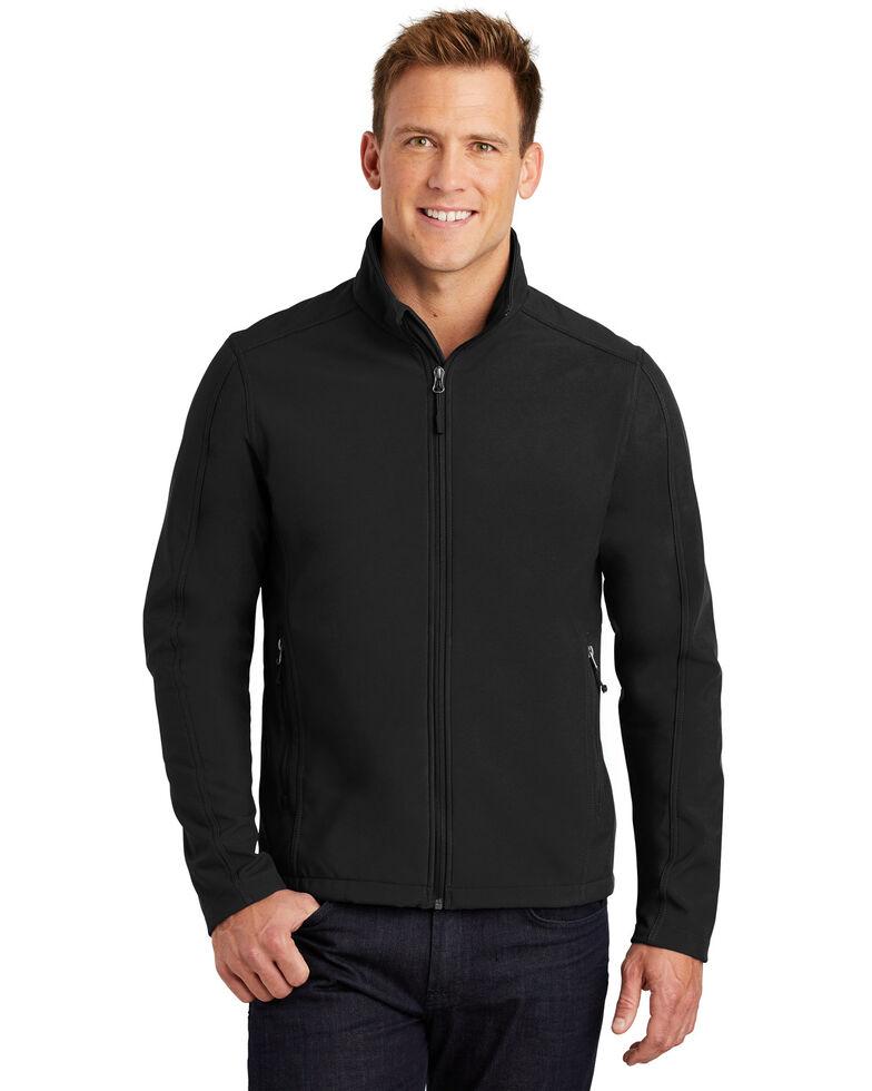 Port Authority Men's Black Core Soft Shell Work Jacket - Big , Black, hi-res