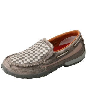 Twisted X Women's Woven Moccasin Shoes - Moc Toe, Grey, hi-res