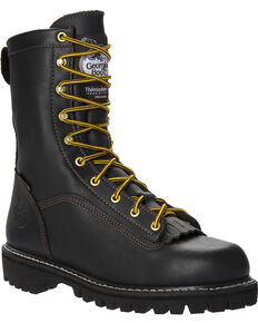 Georgia Men's GORE-TEX Insulated Work Boots, Black, hi-res