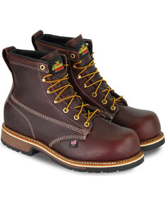 "Thorogood Men's 6"" American Heritage Emperor Toe Work Boots - Composite Toe, Dark Brown, hi-res"