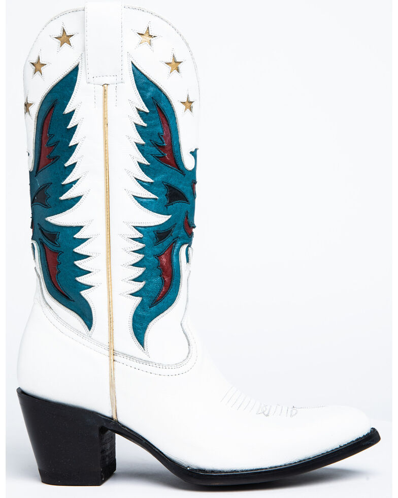 Idyllwind Women's Viceroy Western Boots - Round Toe, White, hi-res