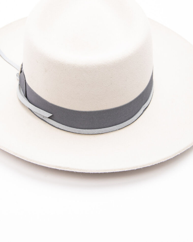 Stetson Men's Wynwood Soft Felt Fedora , Light Grey, hi-res