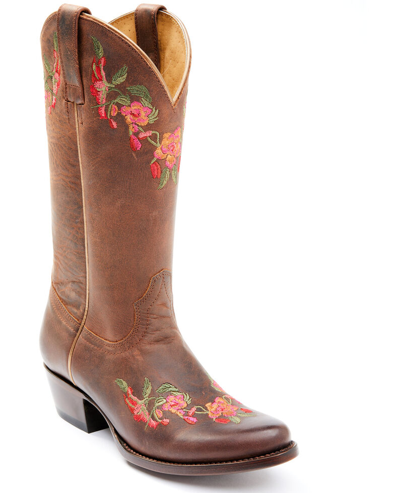 Shyanne Women's Frida Western Boots - Round Toe, Brown, hi-res