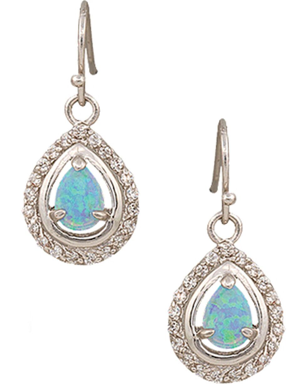 Montana Silversmiths Women's Opal Drop Earrings, Silver, hi-res