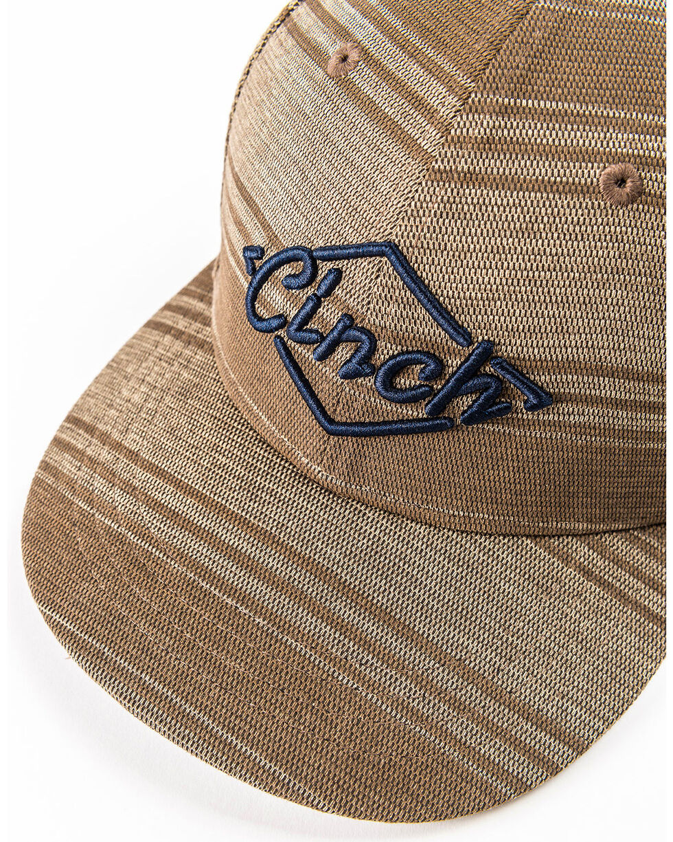 Cinch Men's Brown Stripe 3D Logo Adjustable Cap, Brown, hi-res