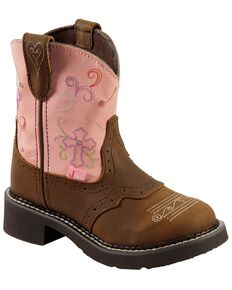Justin Kid's Gypsy Flower Western Boots, Bay Apache, hi-res