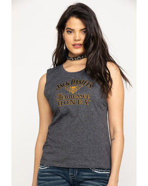 Jack Daniel's Charcoal Tennessee Honey Muscle Tank, Charcoal, hi-res