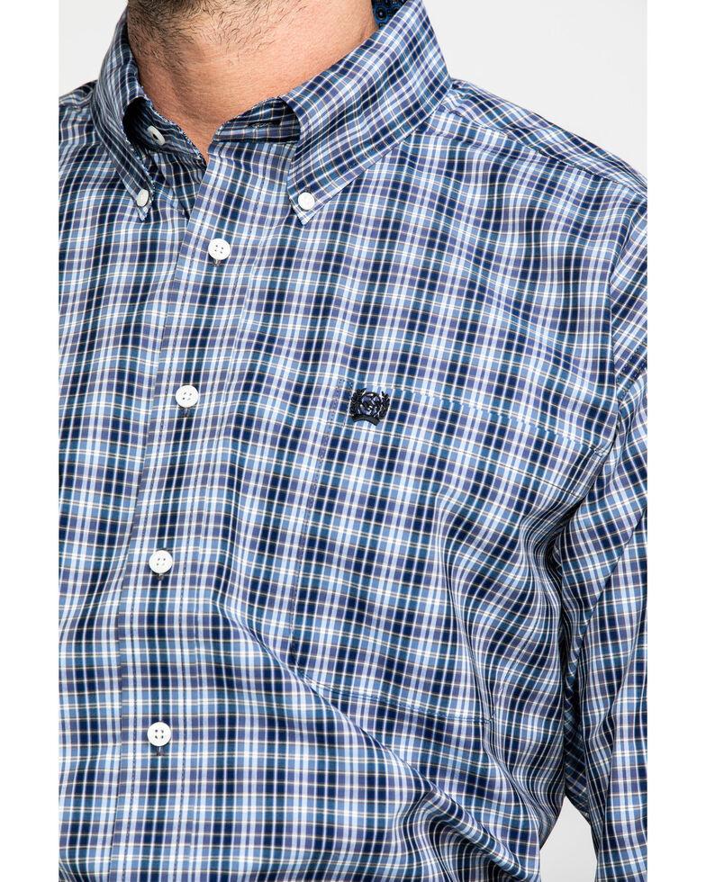 Cinch Men's Purple Med Plaid Long Sleeve Western Shirt , Purple, hi-res