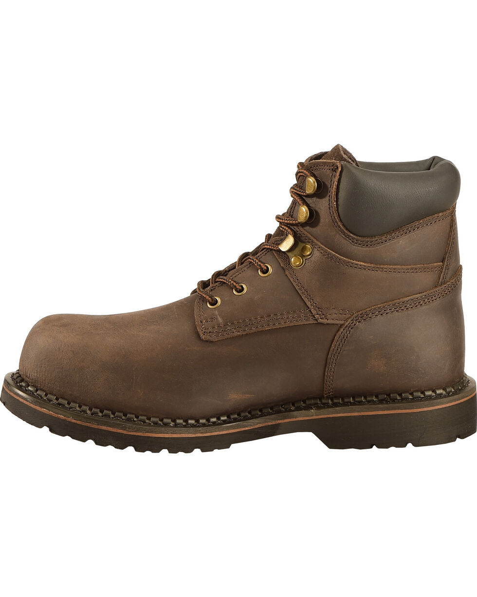 American Worker®  Buffalo  Work Boots, Dark Brown, hi-res