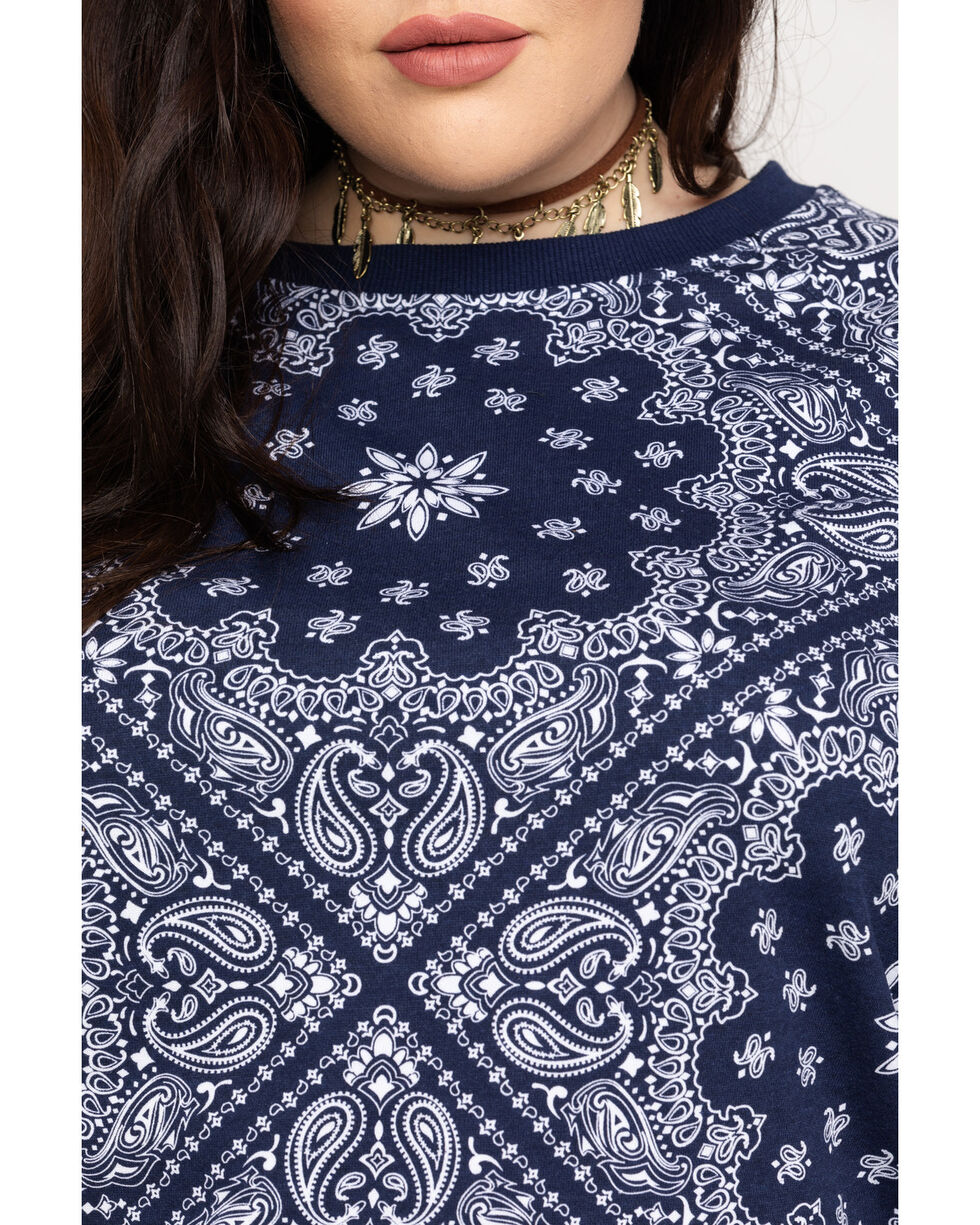 Ariat Women's R.E.A.L. Relaxed Pullover Sweater - Plus, Navy, hi-res