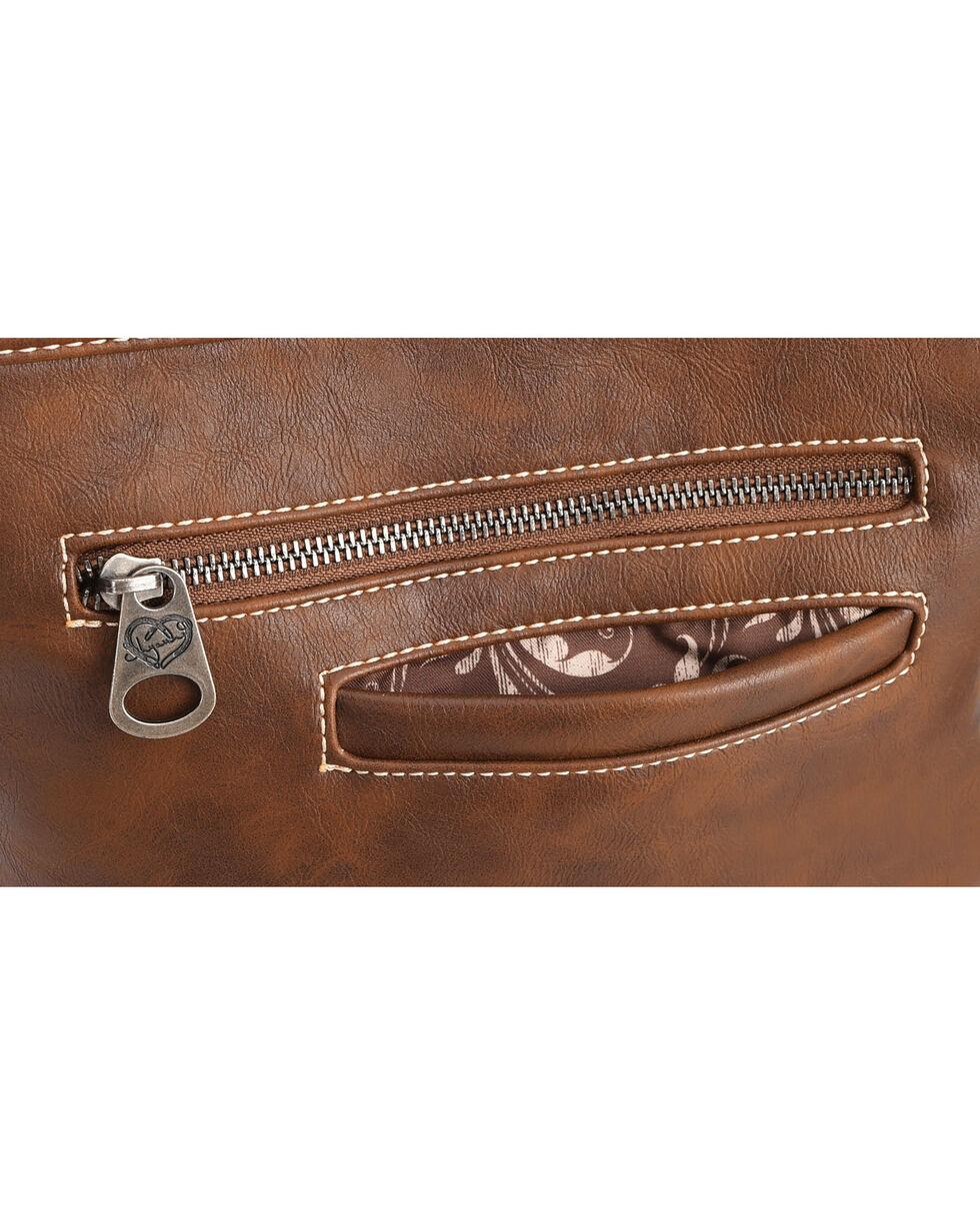 Shyanne Women's Tooled Hair-On Calf Patchwork Crossbody Bag, , hi-res