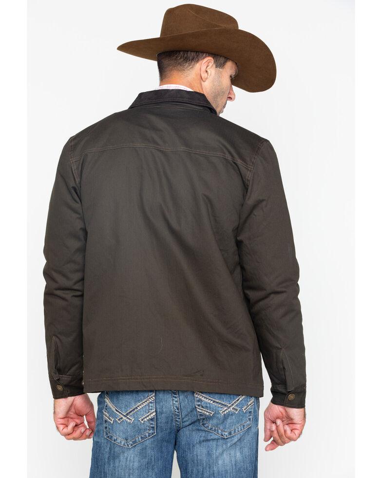 Cody James Core Men's Timberwolf Snap Front Zip-Up Canvas Jacket - Big & Tall , Brown, hi-res