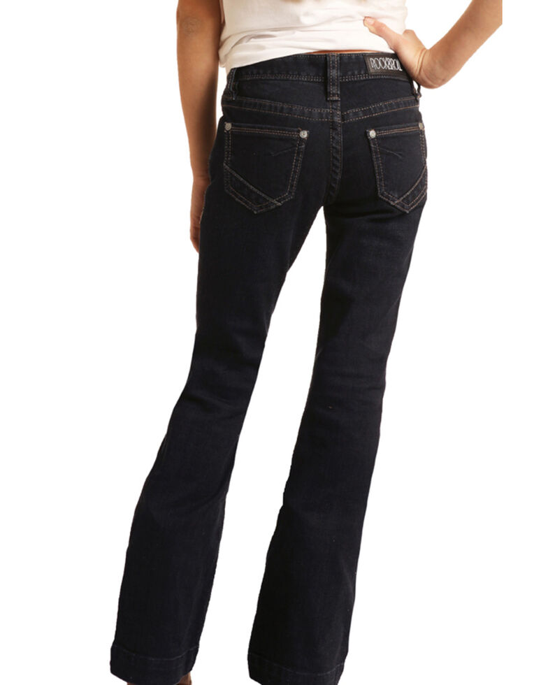 Rock & Roll Denim Girls' Basic Trouser Jeans, Blue, hi-res