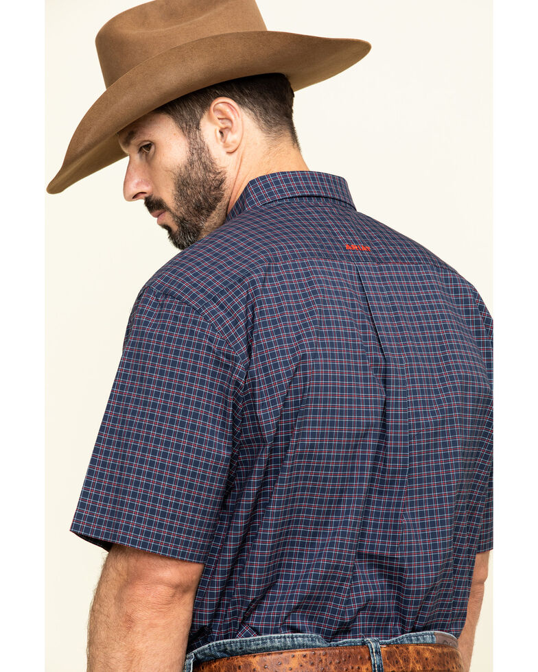 Ariat Men's Norwalk Plaid Short Sleeve Western Shirt , Multi, hi-res