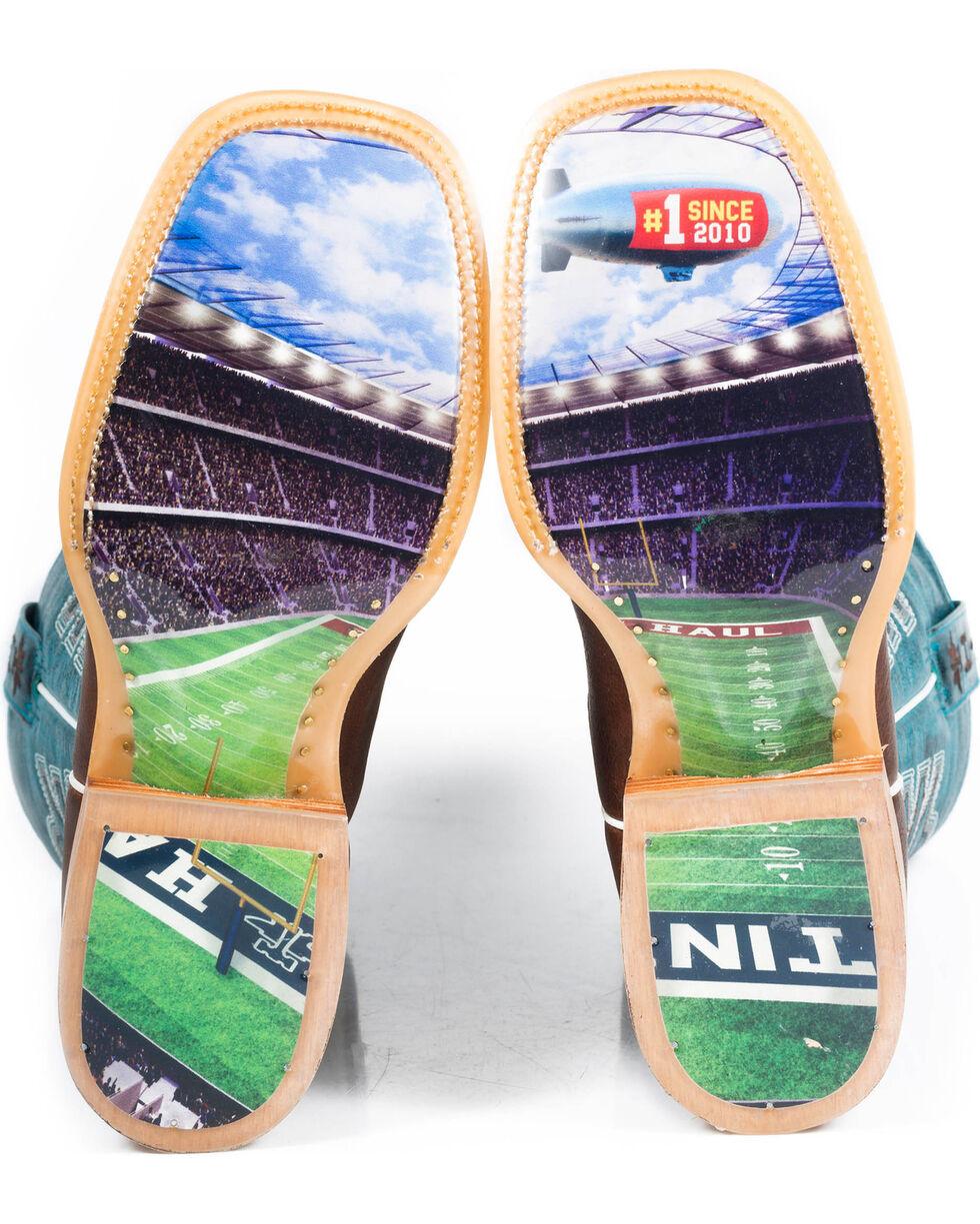 Tin Haul Men's Football Western Boots, Brown, hi-res