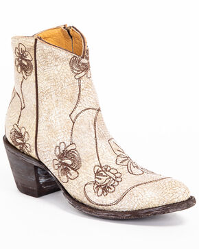 Idyllwind Women's Vegas Western Booties - Round Toe, White, hi-res
