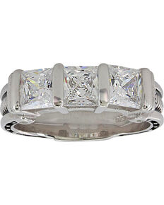 Montana Silversmiths Women's Horseshoe Nail Ring, Silver, hi-res