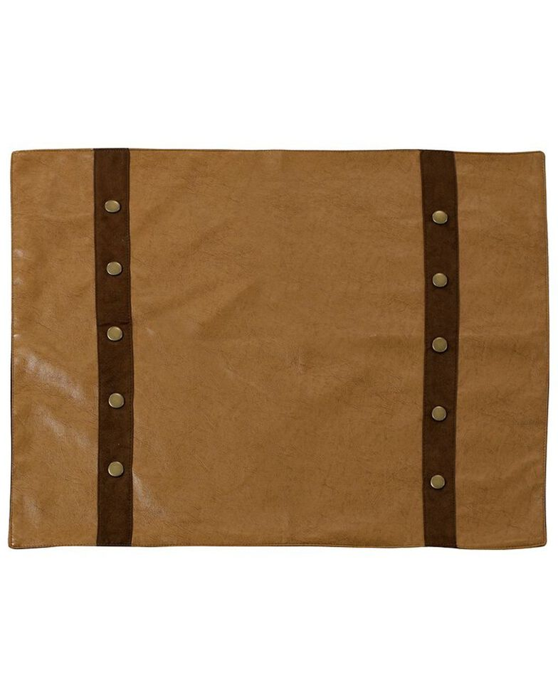 HiEnd Accents Tan Faux Leather Placemats, Tan, hi-res