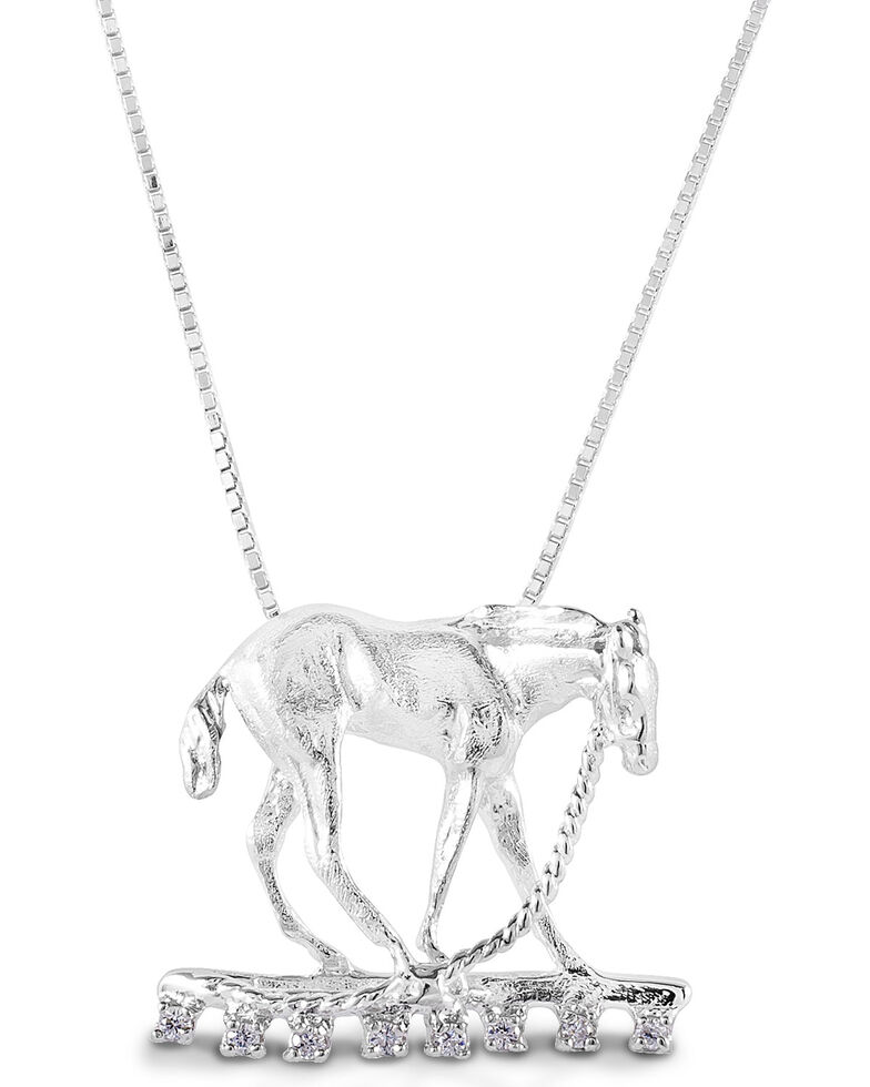 Kelly Herd Women's Foal & Halter Pendant Necklace , Silver, hi-res