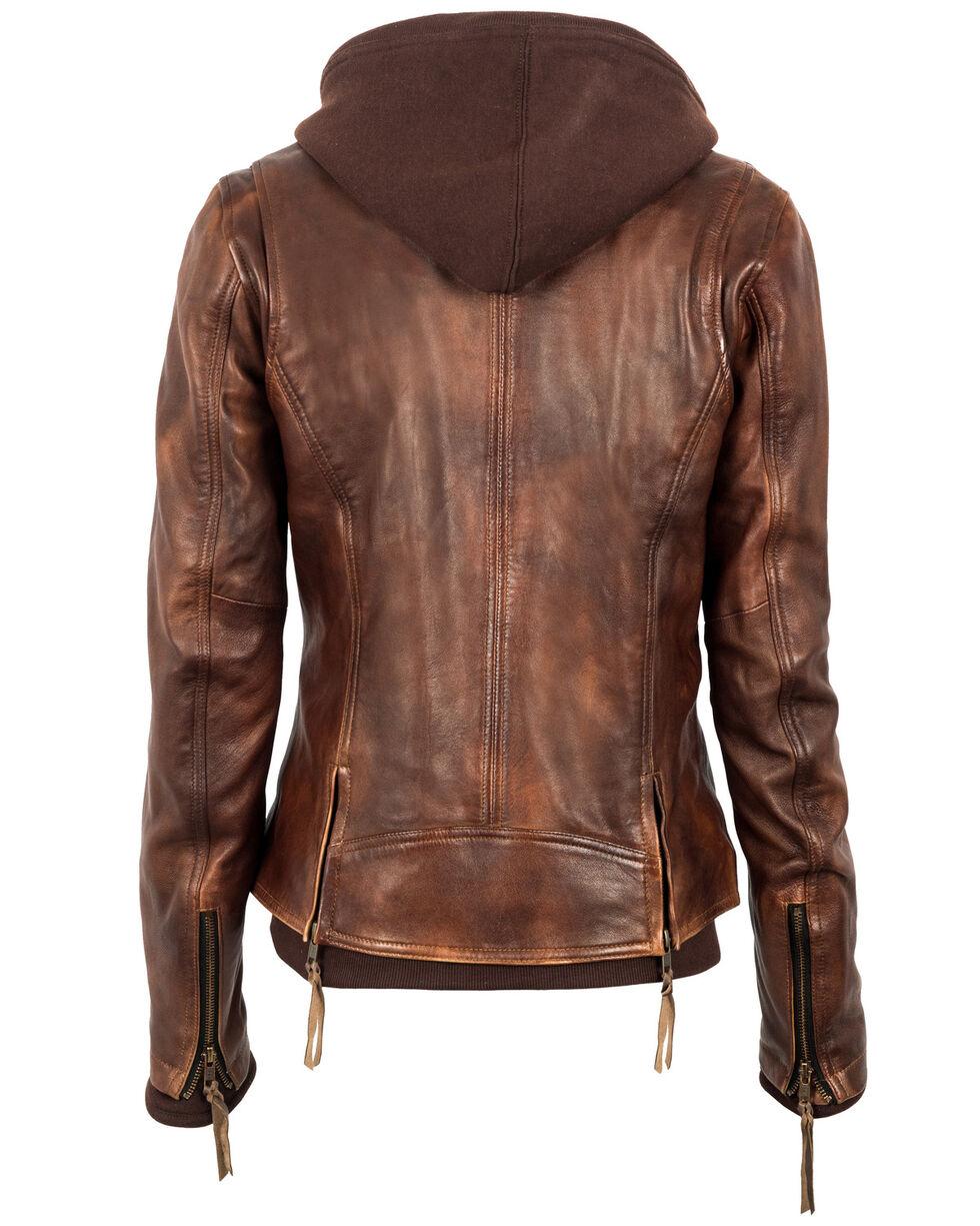 STS Ranchwear Women's Brown Wanderlust Moto Leather Jacket, Brown, hi-res