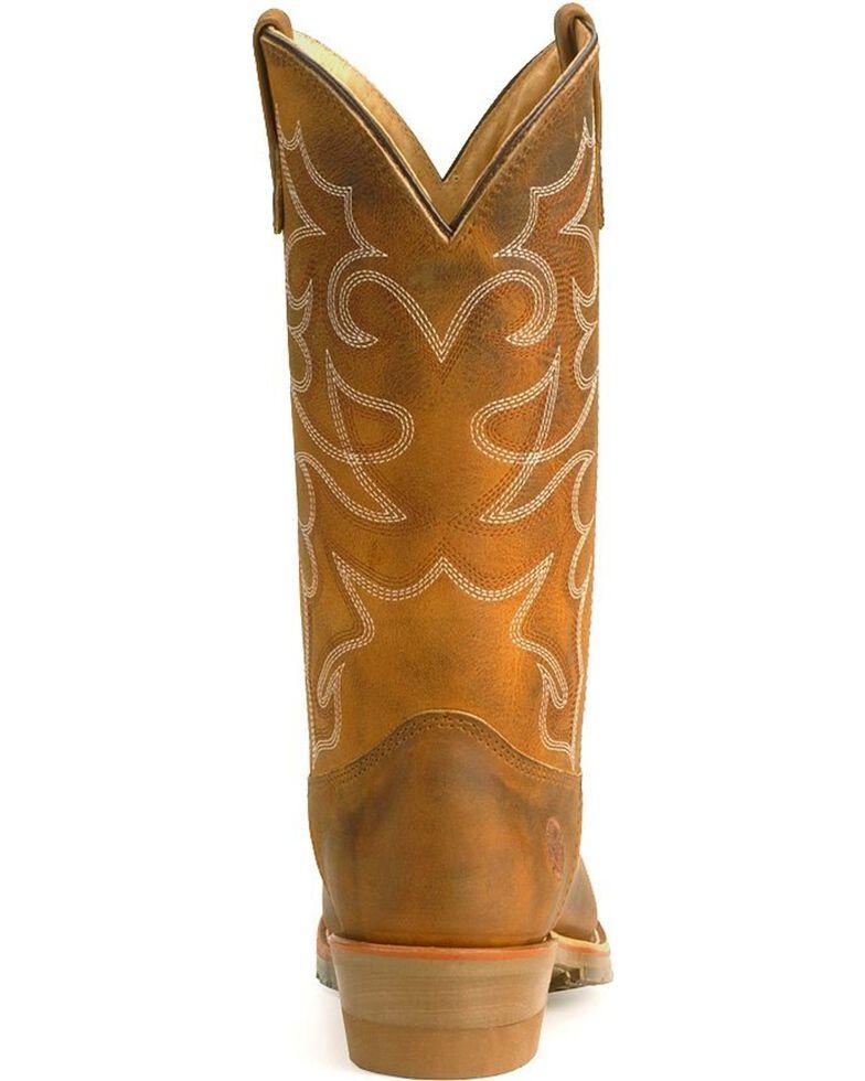 Double-H Men's Gel ICE Steel Toe Western Work Boots, Brown, hi-res